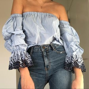 Zara Spring/Summer Shoulderless Top